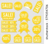 sale collection of yellow... | Shutterstock .eps vector #579354706