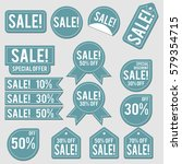 sale collection of blue... | Shutterstock .eps vector #579354715