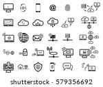 set with internet security icons | Shutterstock .eps vector #579356692