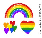 vector gay pride design... | Shutterstock .eps vector #579366892