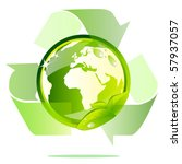 eco globe recycle | Shutterstock .eps vector #57937057
