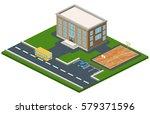 isometric 3d concept vector...   Shutterstock .eps vector #579371596