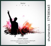 silhouette of dancing people   Shutterstock .eps vector #579380665