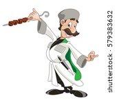 character man in national... | Shutterstock .eps vector #579383632