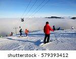 jasna  slovakia   january 25  ...   Shutterstock . vector #579393412