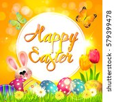 easter. greeting. | Shutterstock .eps vector #579399478