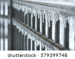 icy fence   Shutterstock . vector #579399748
