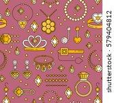 set of vector jewelry line... | Shutterstock .eps vector #579404812
