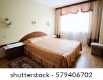 bed room in a hotel | Shutterstock . vector #579406702