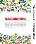 gardening icon set  garden and... | Shutterstock .eps vector #579407752