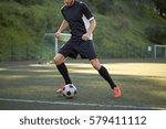 sport  football training and... | Shutterstock . vector #579411112