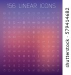 set of linear icons. business...