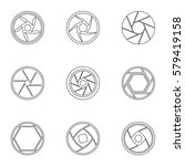 types of aperture icons set.... | Shutterstock . vector #579419158