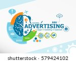 advertising related words and... | Shutterstock .eps vector #579424102