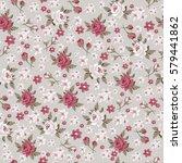 seamless vintage flower pattern ... | Shutterstock .eps vector #579441862