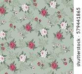 seamless vintage flower pattern ...   Shutterstock .eps vector #579441865