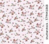 seamless vintage flower pattern ... | Shutterstock .eps vector #579441868