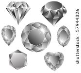 diamonds collection against... | Shutterstock .eps vector #57944326
