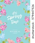 spring time concept of card... | Shutterstock .eps vector #579447526