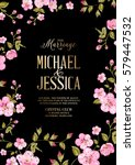 wedding invitation card... | Shutterstock .eps vector #579447532