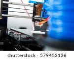 3d printer mechanism working... | Shutterstock . vector #579453136