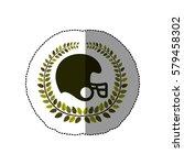 american football emblem icon ...   Shutterstock .eps vector #579458302