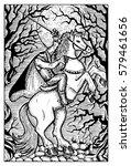 headless horseman in the full... | Shutterstock .eps vector #579461656