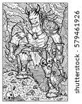 orc  troll or goblin. fantasy... | Shutterstock .eps vector #579461926