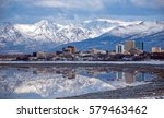 anchorage skyline with a winter ...   Shutterstock . vector #579463462