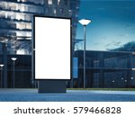 blank advertising stand at... | Shutterstock . vector #579466828