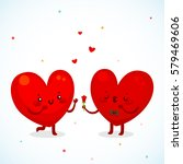 two loving hearts  the man...   Shutterstock .eps vector #579469606