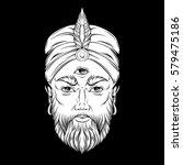 vector hand drawn illustration... | Shutterstock .eps vector #579475186