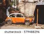 Abandon Old Vintage Car With...
