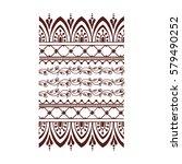henna tattoo mehndi flower... | Shutterstock .eps vector #579490252