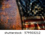 usa flag vintage background | Shutterstock . vector #579503212