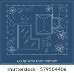 landscape plan of the house...   Shutterstock .eps vector #579504406
