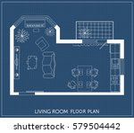 architectural plan with...   Shutterstock .eps vector #579504442