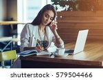 beautiful girl working out a...   Shutterstock . vector #579504466