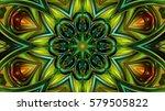 floral neon background | Shutterstock . vector #579505822