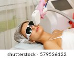laser hair removal on the face...   Shutterstock . vector #579536122
