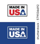 vector made in usa label   Shutterstock .eps vector #579536692