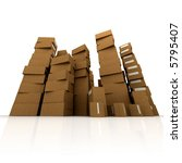 huge piles of cardboard boxes... | Shutterstock . vector #5795407