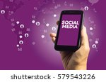 social media concept  a male... | Shutterstock . vector #579543226