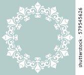 elegant vector blue and white...   Shutterstock .eps vector #579545626