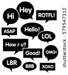vector speech bubble set | Shutterstock .eps vector #579547312