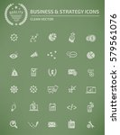 business and strategy icon set... | Shutterstock .eps vector #579561076