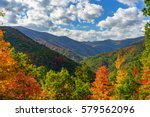 Small photo of Fall on the Cherohala Skyway. Cherohala Skyway, Appalachian Mountains, Tennessee and North Carolina