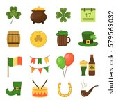 set of flat icons for st.... | Shutterstock .eps vector #579569032