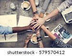 collaboration connection team... | Shutterstock . vector #579570412