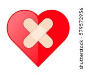 the red heart shape with... | Shutterstock .eps vector #579572956